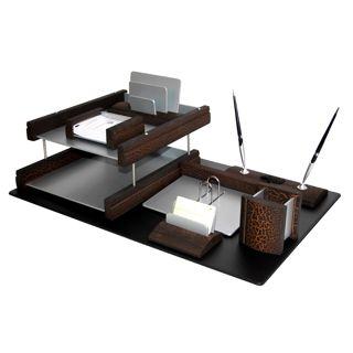 Офисные наборы на стол. Пластиковые и деревянные наборы