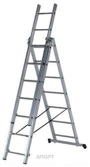 Фото SevenBerg Алюминиевая трехсекционная лестница-стремянка 3x11 920311