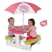 Фото SMOBY Стол для пикника с зонтиком Hello Kitty (310256)