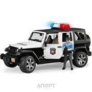 Фото Bruder Джип Wrangler Unlimited Rubicon Police + фигурка полицейского (02526)