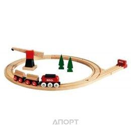 Brio Железная дорога с краном (33010)