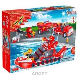 BanBao Пожарные 8312 Fire Car & Ship set