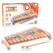 Фото Мир деревянных игрушек Ксилофон (12 тонов) (Д046)