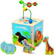 Фото Мир деревянных игрушек Универсальный куб Сафари (Д373)