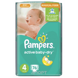 Pampers Active Baby Maxi 4 (76 шт.)