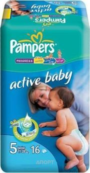 Фото Pampers Active Baby Junior 5 (16 шт.)