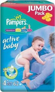 Фото Pampers Active Baby Maxi Plus 4+ (62 шт.)