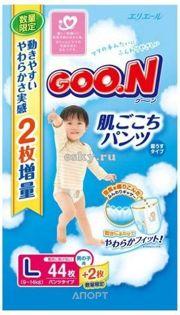 Фото Goo.N Подгузники-трусики для мальчиков L 9-14 кг (44 шт.)