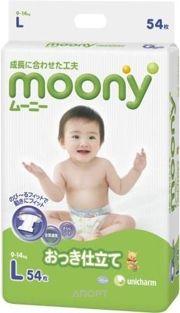 Фото Moony L 9-14 кг (54 шт.)