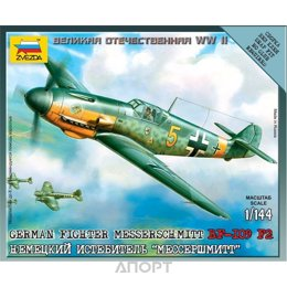 ZVEZDA Немецкий истребитель Мессершмитт BF-109 F2 (ZVE6116)