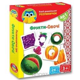 Vladi Toys Умник. Фрукты-овощи (VT1306-06)