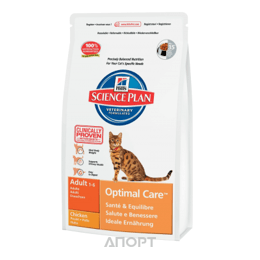 Hill's Science Plan Feline Adult Optimal Care with Chicken 5 кг