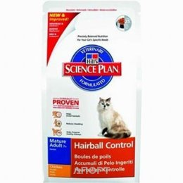 Hill's Science Plan Feline Mature Adult 7+ Hairball Control Chicken 1,5 кг
