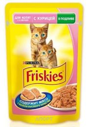 Фото Friskies Консервы для котят Junior с курицей в подливке 0,1 кг