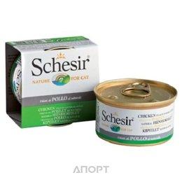 Schesir Консервы для кошек (с цыпленком в собственном соку) 85 г