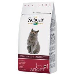 Schesir Sterilized and Light облегченный сухой корм для кошек (с курицей) 10 кг
