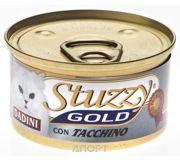 Фото Stuzzy Gold консервы для кошек кусочки индейки в соусе 85 гр