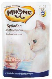 Фото МНЯМС Влажный корм для кошек Буйабес по-марсельски (рыба с морепродуктами) 0,085 кг