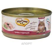 Фото МНЯМС Консервы для кошек Тунец с курицей в нежном желе 0,07 кг