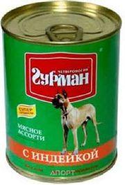 Фото Четвероногий Гурман Мясное ассорти с индейкой для собак 0,1 кг