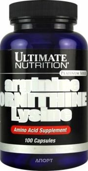 Фото Ultimate Nutrition Arginine Ornithine Lysine 100 caps