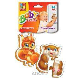 Vladi Toys Беби-паззл на магнитах Пушистики (VT3208-04)
