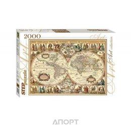 Step puzzle Историческая карта мира (2000 эл.) (84003)