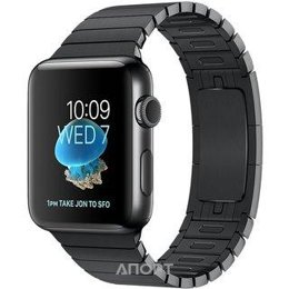 Apple Watch Series 2 38mm Space Black Stainless Steel Case with Space Black Link Bracelet Band (MNPD2)