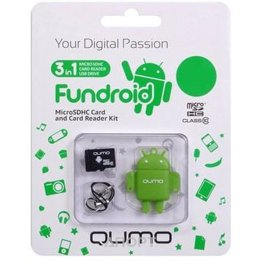 Qumo microSDHC class 10 + Fundroid USB Card Reader 16Gb